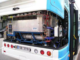 Pila de combustible del TriHyBus, foto: Jan Kubík, Wikimedia Commons