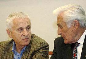 Milan Paumer (a la izquierda) y Josef Masín (Foto: CTK)