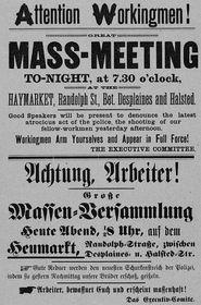 Výzva kprotestům z4. května 1886