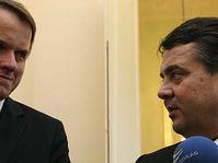 Martin Bursik et Sigmar Gabriel, photo: CTK