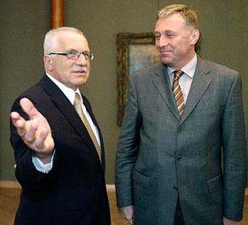 Vaclav Klaus y Mirek Topolánek (Foto: CTK)