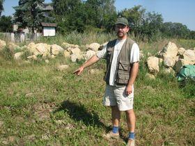 Petr Brestovanský na odkoupeném pozemku, foto: autor