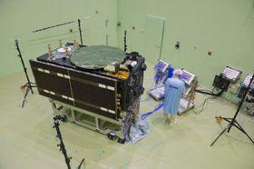 Galileo-Satellit (Foto: ESA-Anneke Le Floc'h, Archiv der Europäischen Weltraumorganisation, Wikimedia Commons, CC BY-SA 3.0 IGO)
