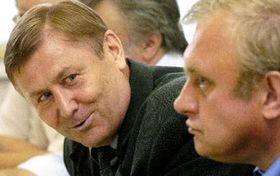 Miroslav Grebenícek con Miloslav Ransdorf del Partido Comunista, foto: CTK