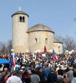 Субботнее собрание Чешской социал-демократической партии на горе Ржип (Фото: ЧТК)