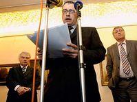 Milos Melcak, Michal Pohanka, Mirek Topolanek, photo: CTK