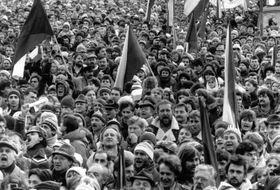 Kundgebung auf der Letná-Anhöhe 1989 (Foto: Privatarchiv von Herrn Růžička)