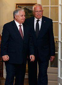 Lech Kaczyński (vlevo) aVáclav Klaus, foto: ČTK