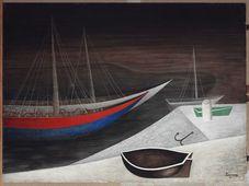 Jan Zrzavý, 'Les bateaux dormants', 1935, photo: Galerie nationale de Prague