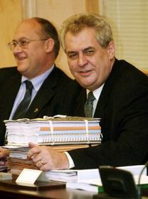 Milos Zeman (rechts), Foto: CTK