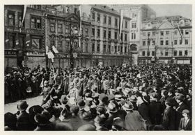 Octobre 1918 à Prague, photo: Archives de VHÚ