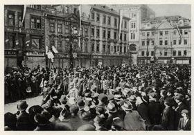 28. Oktober 1918 in Prag (Foto: Archiv des Militärhistorischen Instituts in Prag)