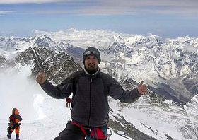 Pavel Trčala na Mount Everestu, foto: ČTK