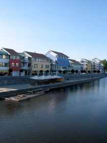 New buildings along the Otava River