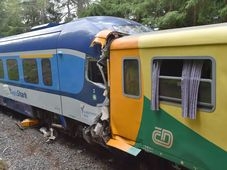 Srážka vlaků u Perninku, foto: ČTK / Slavomír Kubeš