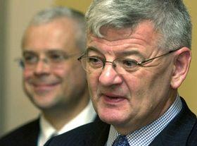 Ministro de Relaciones Exteriores de Alemania, Joschka Fischer en Praga, foto: CTK