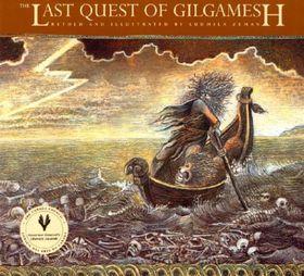 Obálka jednoho zdílů Eposu oGilgamešovi od Ludmily Zemanové, vydalo nakladatelství Tundra vMontrealu