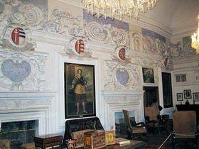 The interior of the Castle Cesky Sternberk