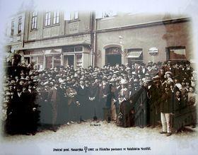 Tomás Garrigue Masaryk en Valasské Mezirící