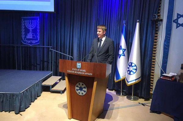 Tomáš Petříček en Israël, photo: MZV ČR