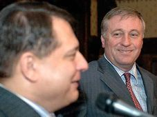 Jirí Paroubek y Mirek Topolánek (Foto: CTK)