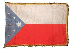 Jeden znávrhů na státní vlajku zroku 1918, foto: archiv VHÚ