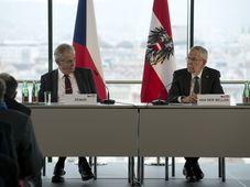 Miloš Zeman a Alexander Van der Bellen, foto: ČTK/Šulová Kateřina