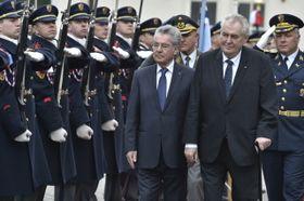 Heinz Fischer y Miloš Zeman, foto: ČTK