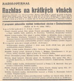 Radiojournal Weekly, January 1937