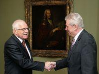 Václav Klaus (vlevo) a Miloš Zeman, foto: ČTK