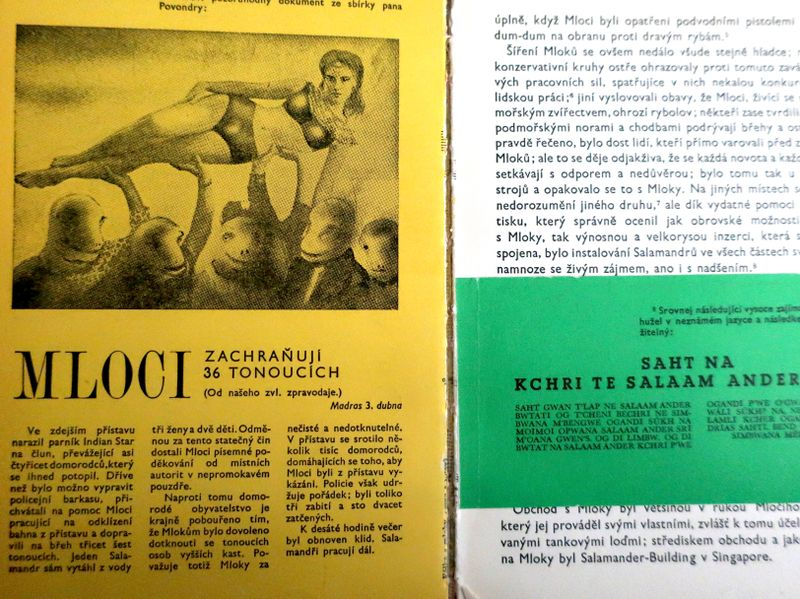 Фото: repro Karel Čapek, 'Válka s mloky' / Československý spisovatel, 1986