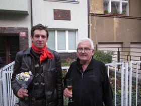 Martin Dašek et le fils de Kamil Lhoták, photo: Anaïs Raimbault
