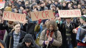 Демонстрация в поддержку социального центра «Клиника», Фото: ЧТК