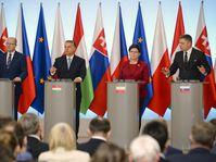De izquierda: Bohuslav Sobotka, Victor Orbán, Beata Szydlo y Robert Fico, foto: ČTK