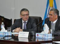Lubomír Zaorálek y el ministro egipcio de Antigüedades, Mamdouh Eldamaty, foto: ČTK