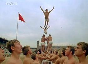 Spartakiad mass excercise in 1985, photo: TV Nova