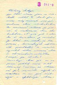La lettre adressée au leader étudiant Lubomír Holeček à la Faculté des lettres, photo: Archives du département de sécurité