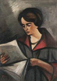 Feigl schuf auch mehrere Porträts seiner Frau Margarete (Foto: Archiv der Galerie der bildenden Künste in Cheb)