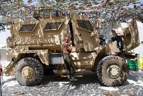 Ilustrační foto: Servis vozidel MRAP MAXXPRO na dílnách 9. jednotky PRT Lógar / Ministerstvo obrany ČR