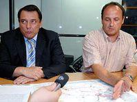 Premiér Jiří Paroubek s Vladimírem Tošovským (vpravo), foto: ČTK