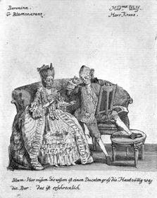 Мария Каролина Бенда в роли баронессы в комедии Der Postzug