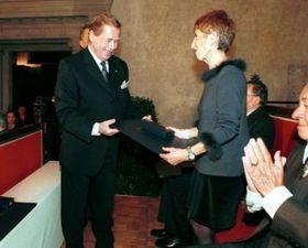 Vaclav Havel and Marketa Goetz-Stankiewicz, photo: CTK
