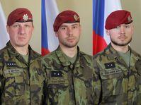 Martin Marcin, Kamil Beneš, Patrik Štěpánek, photo: archive of Czech Army