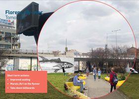 Florenc con vista a dentro de 50 años, foto: Gehl architects, fuente: La Radiodifusión Checa