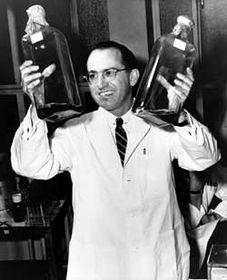 Jonas Salk, photo: The Owl / University of Pittsburgh Digital Archives