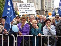 Más de mil sindicalistas manifestaron en Ostrava contra el Gobierno, foto: CTK