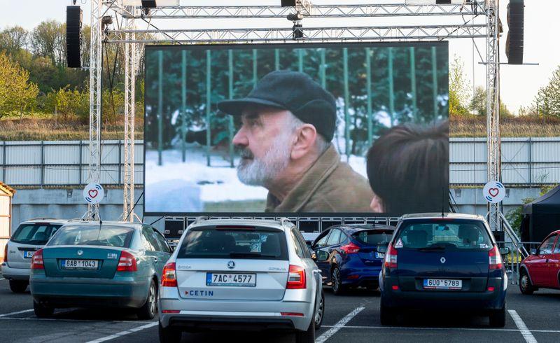 Autokino in Ústí nad Labem (Foto: ČTK / Ondřej Hájek)