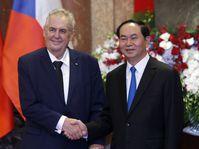 Miloš Zeman a jeho vietnamský protějšek Tran Dai Quang, foto: ČTK