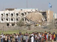 United Nations headquarters in Baghdad after the attack, photo: CTK