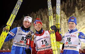 Lukáš Bauer, Martin Johnsrud Sundby, Sami Jauhojärvi, photo: CTK